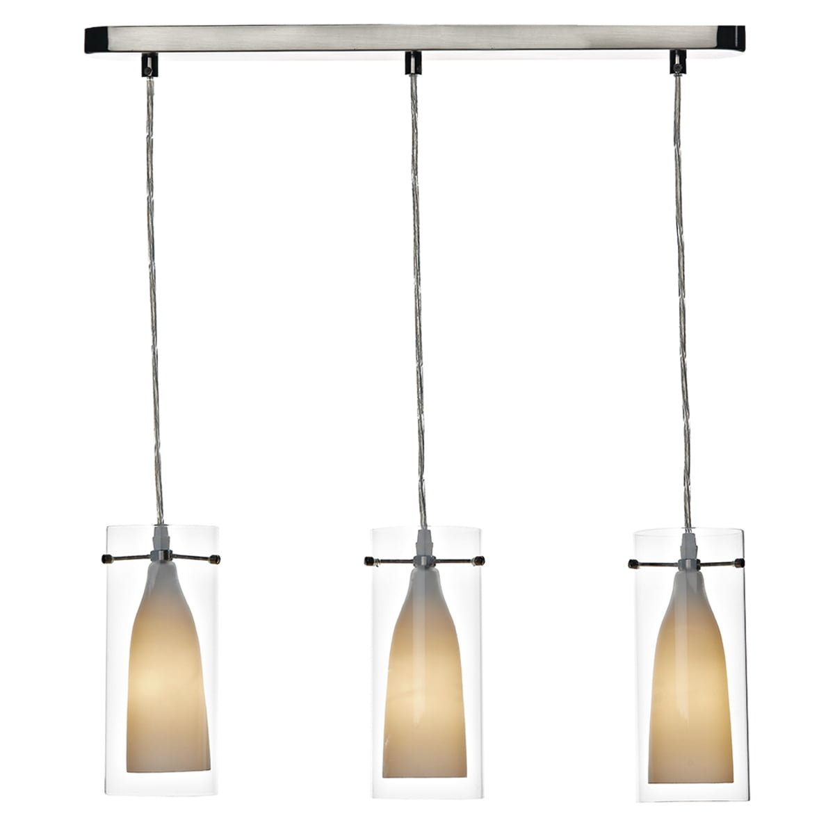 Dar BOD1970  BODA 3light pendant spare glass (clear outer only)