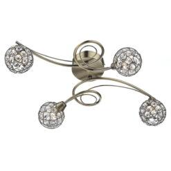 Dar CIR192  CIRCA spare antique brass round shade for CIR0475/0775/4275/6475