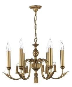 David Hunt CL16 Classic 6 light, Antique Gold