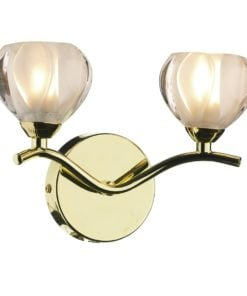 Dar CYN0940 Cynthia 2lt, Polished Brass