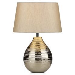 Dar GUS1432  GUSTAV large table lamp spare silver shade