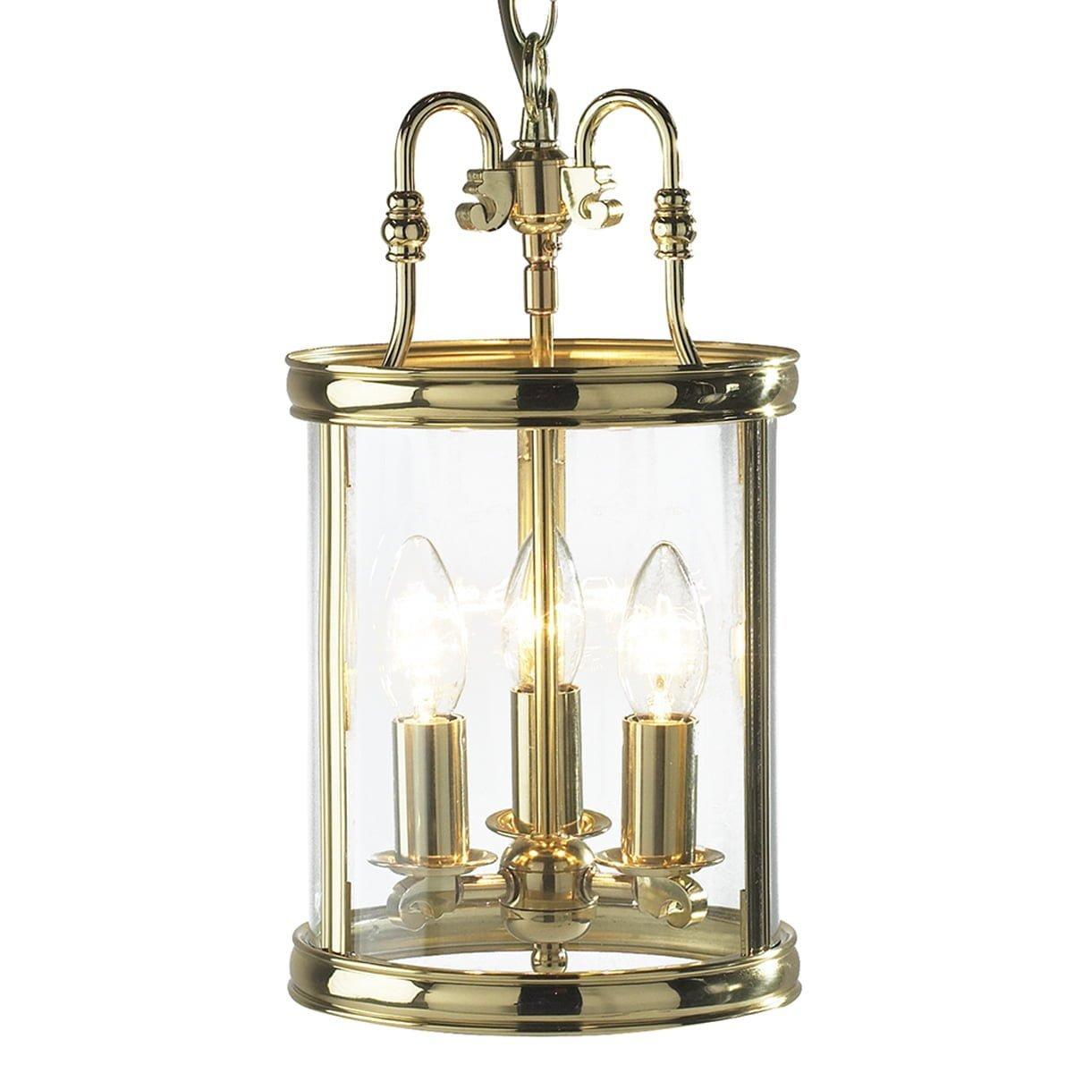 Dar LAM0340 Lambeth 3lt, Polished Brass