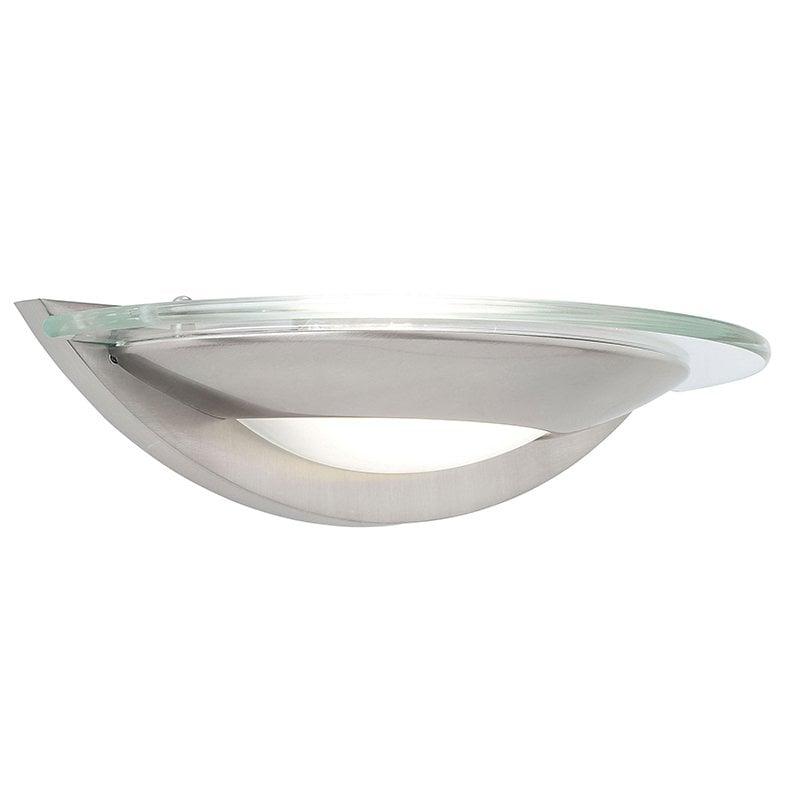 Endon 051-WBSC Firenz 1lt wall 80W, Satin chrome effect plate & clear glass