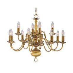 Searchlight 1019-12AB Flemish 12lt Ceiling Light, Antique Brass