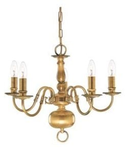 Searchlight 1019-5AB Flemish 5lt Ceiling Light, Antique Brass