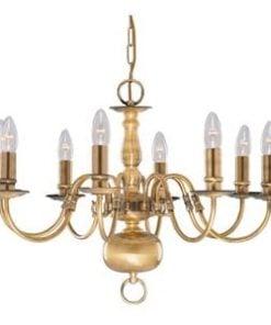 Searchlight 1019-8AB Flemish 8lt Ceiling Light, Antique Brass