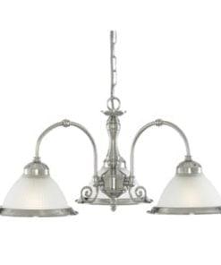 Searchlight 1043-3 American Diner 3lt Ceiling Light, Satin Chrome