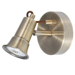 Searchlight 1221AB Eros 1lt Spotlight, Antique Brass