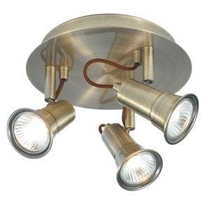 Searchlight 1223AB Eros 3lt Spotlight, Antique Brass
