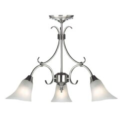Endon 144-3AS Hardwick 3lt pendant 40W, Antique silver effect plate & frosted glass