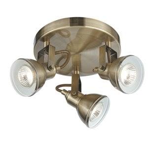 Searchlight 1543AB Focus 3lt Spotlight, Antique Brass