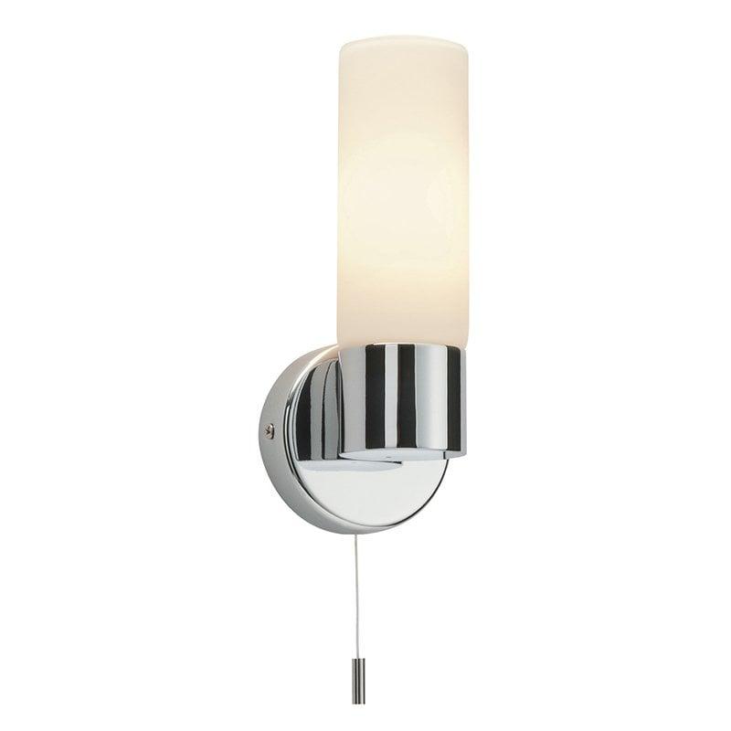 Endon 34483 Pure IP44 40W, Chrome effect plate & matt opal duplex glass