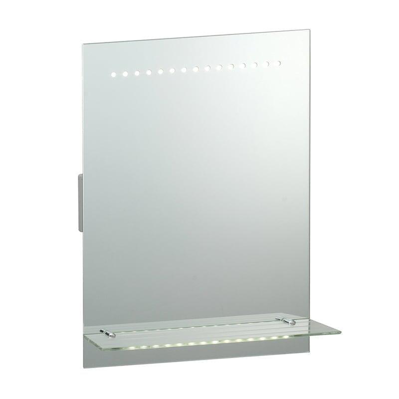 Endon 39237 Omega IP44 1W, Mirrored glass & matt silver effect paint