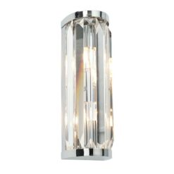 Endon 39629 Crystal IP44 18W, Chrome effect plate & Crystal (k9) glass detail