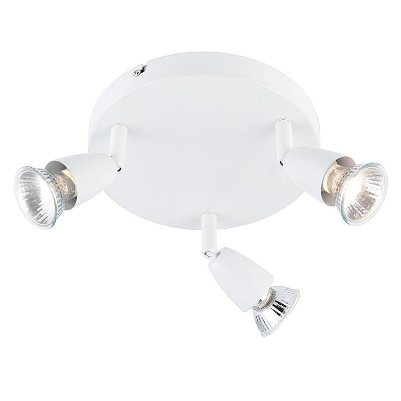 Endon 43283 Amalfi triple 50W, Gloss white