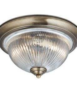 Searchlight 4370 American Diner 2lt Pendant, Antique Brass