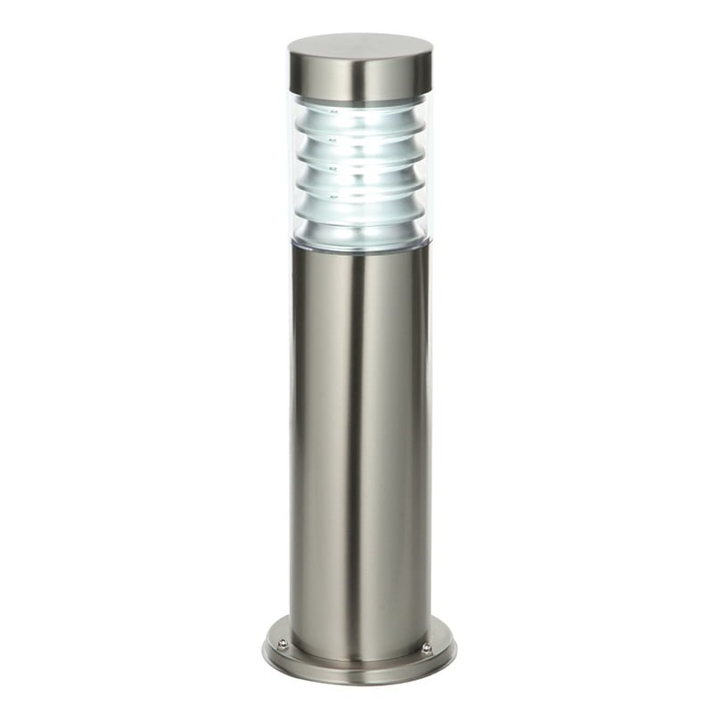 Endon 49910 Equinox post IP44 12.3W, Marine grade brushed stainless steel & clear pc