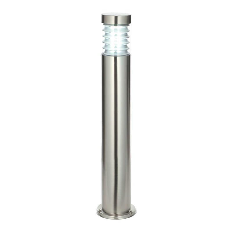 Endon 49911 Equinox bollard IP44 12.3W, Marine grade brushed stainless steel & clear pc