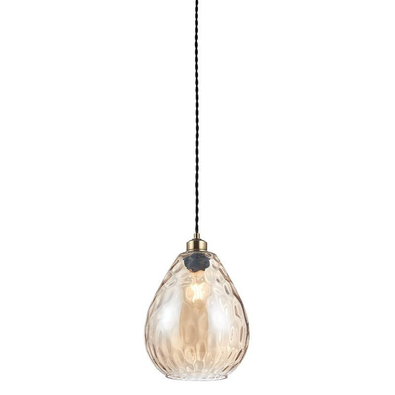 Endon 60298 Eileen non electric 40W, Cognac rippled glass