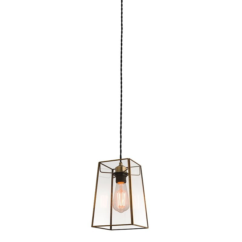 Endon 60892 Beaumont non electric 60W, Clear glass & antique brass effect plate