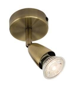 Endon 60998 Amalfi single 50W, Antique brass effect plate