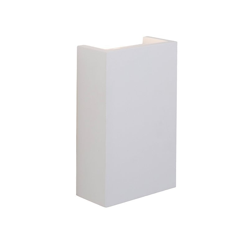 Endon 61635 Mornington 2lt wall 2W, White plaster