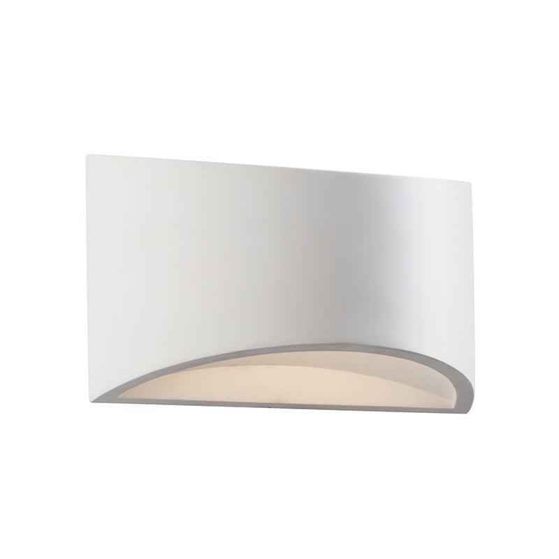 Endon 61639 Toko 200mm 1lt wall 3W, White plaster