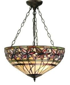 Interiors 1900 63913 Ashtead Medium inverted 3lt pendant, Tiffany