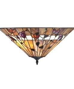 Interiors 1900 63948 Bernwood Medium 2lt flush, Tiffany