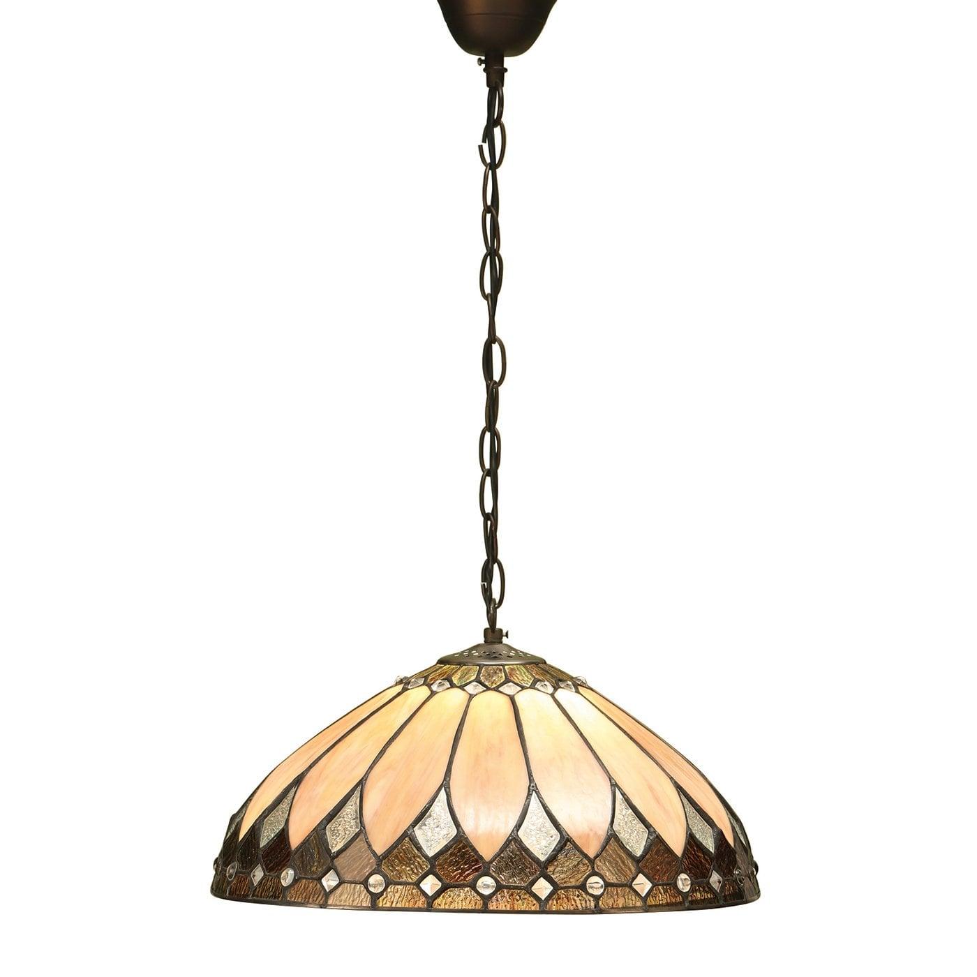 Interiors 1900 63977 Brooklyn Medium 1lt pendant, Tiffany