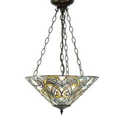 Interiors 1900 64052 Dauphine Medium inverted 3lt pendant, Tiffany