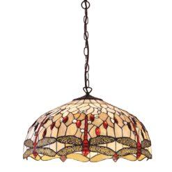 Interiors 1900 64079 Dragonfly beige Large 3lt pendant, Tiffany