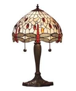 Interiors 1900 64086 Dragonfly beige Small table, Tiffany