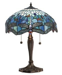 Interiors 1900 64089 Dragonfly blue Medium table, Tiffany