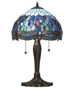 Interiors 1900 64090 Dragonfly blue Small table, Tiffany