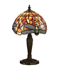 Interiors 1900 64091 Dragonfly flame Intermediate table, Tiffany