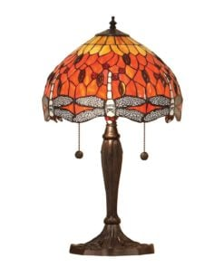 Interiors 1900 64092 Dragonfly flame Small table, Tiffany