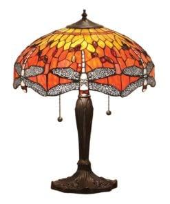 Interiors 1900 64093 Dragonfly flame Medium table, Tiffany
