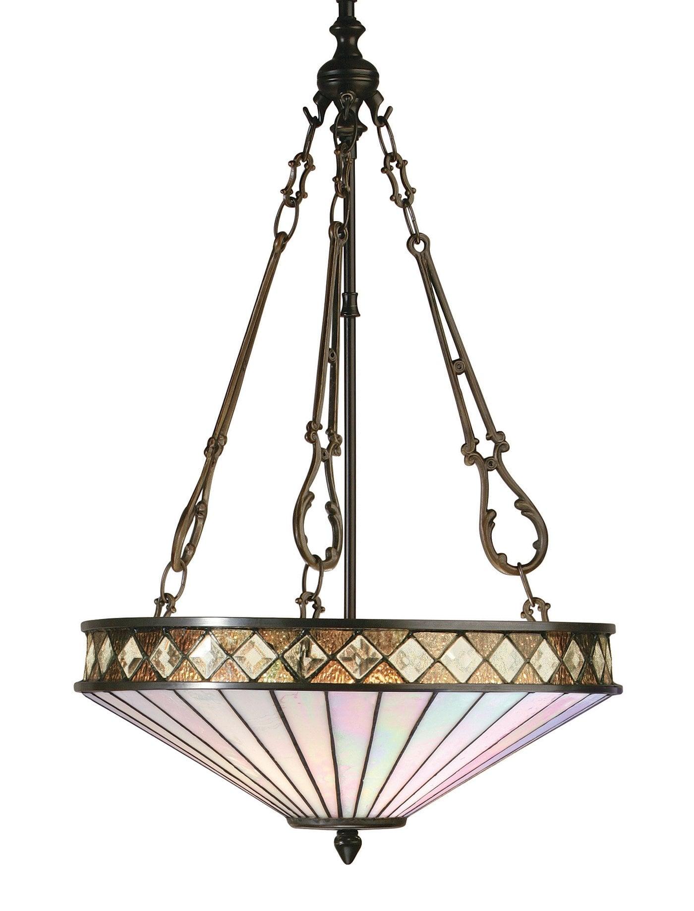 Interiors 1900 64146 Fargo Medium inverted 3lt pendant, Tiffany