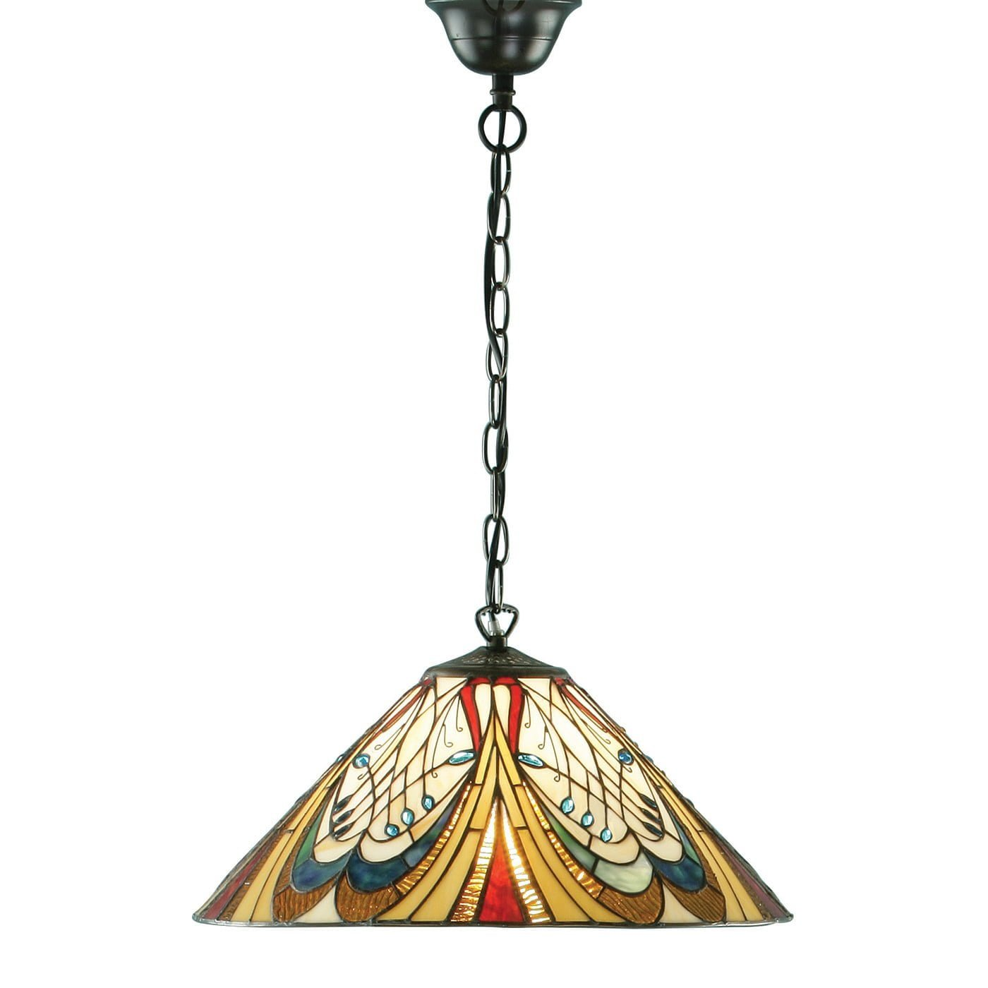 Interiors 1900 64162 Hector Medium 1lt pendant, Tiffany