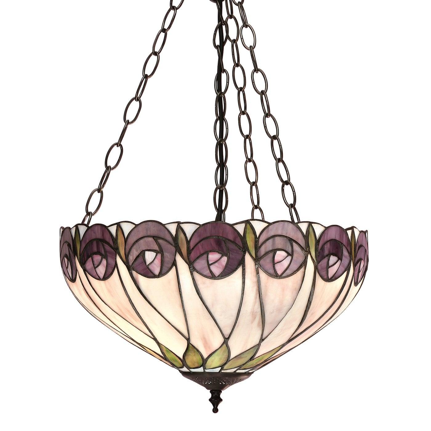 Interiors 1900 64175 Hutchinson Medium inverted 3lt pendant, Tiffany