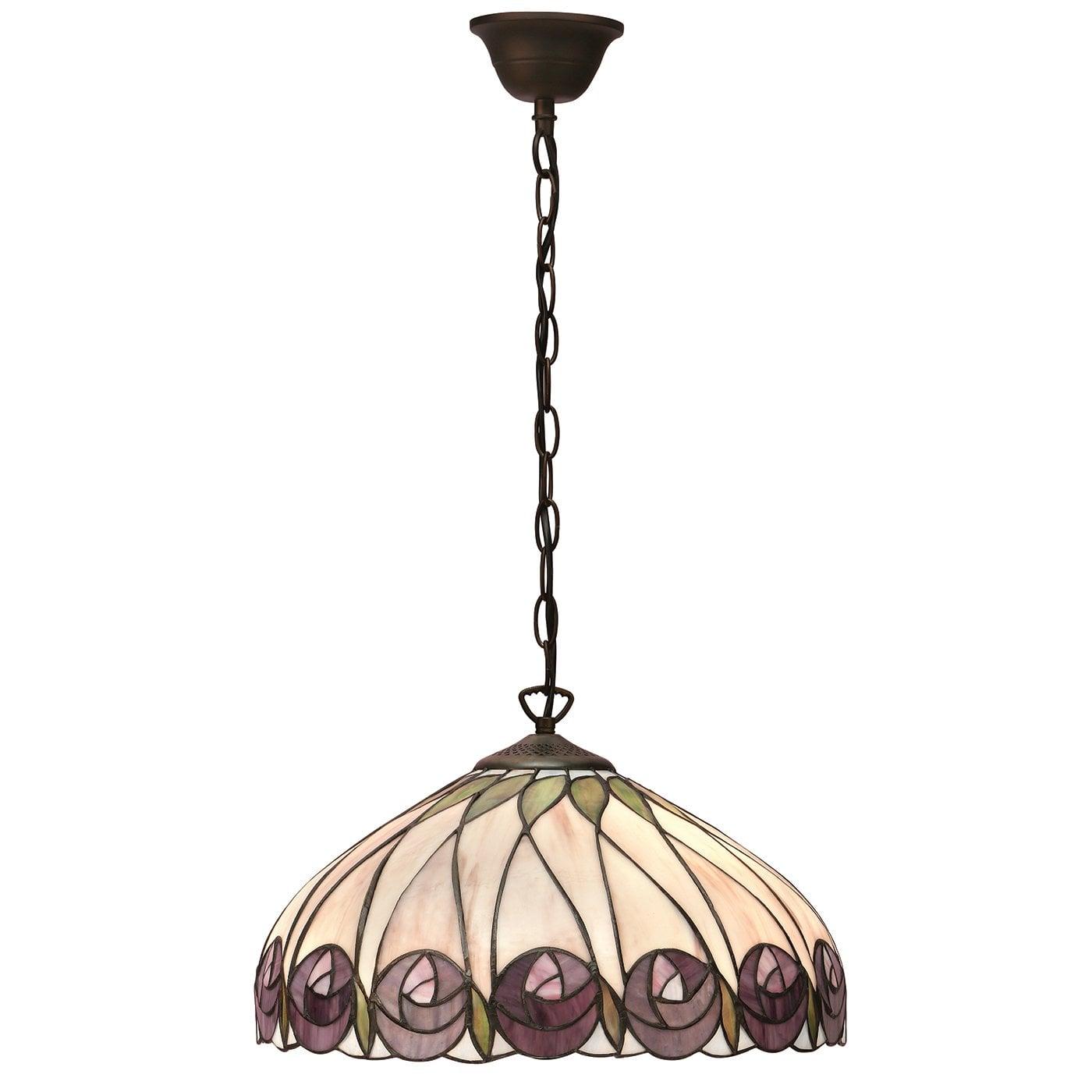 Interiors 1900 64176 Hutchinson Medium 1lt pendant, Tiffany