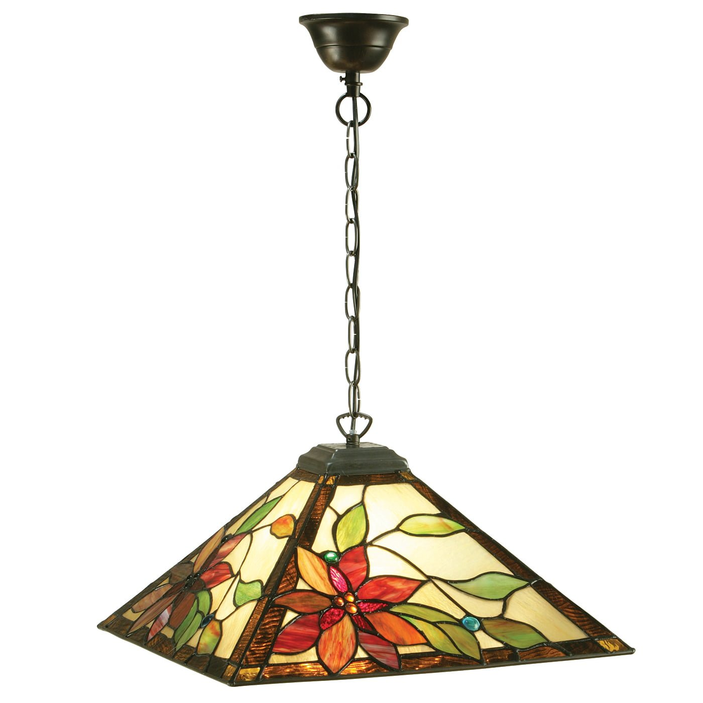 Interiors 1900 64228 Lelani Medium 1lt pendant, Tiffany
