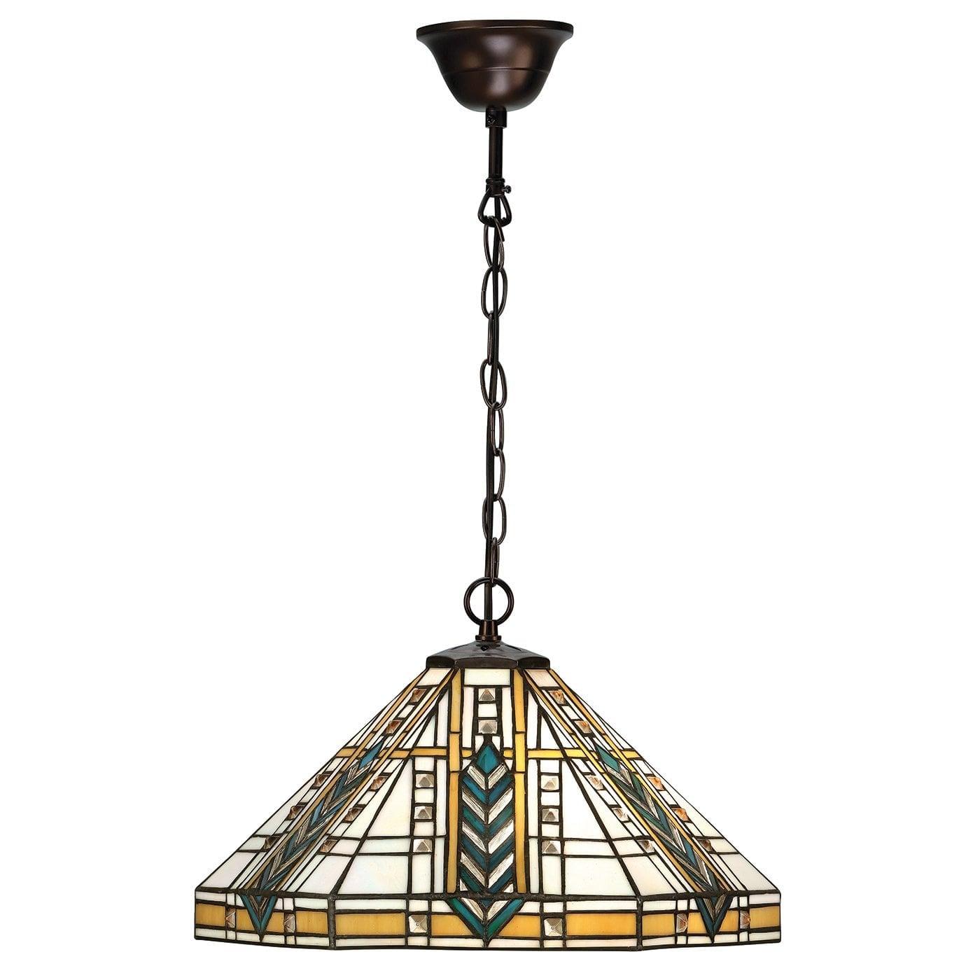 Interiors 1900 64238 Lloyd Medium 1lt pendant, Tiffany