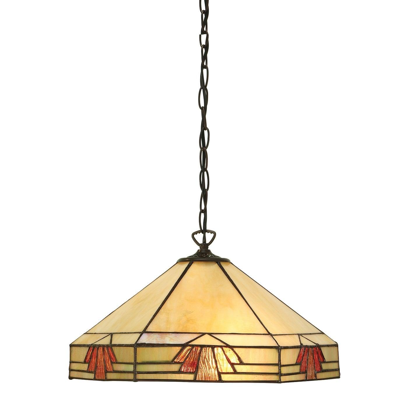 Interiors 1900 64285 Nevada Medium 1lt pendant, Tiffany