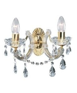 Searchlight 699-2 Marie Therese 2lt Crystal, Brass