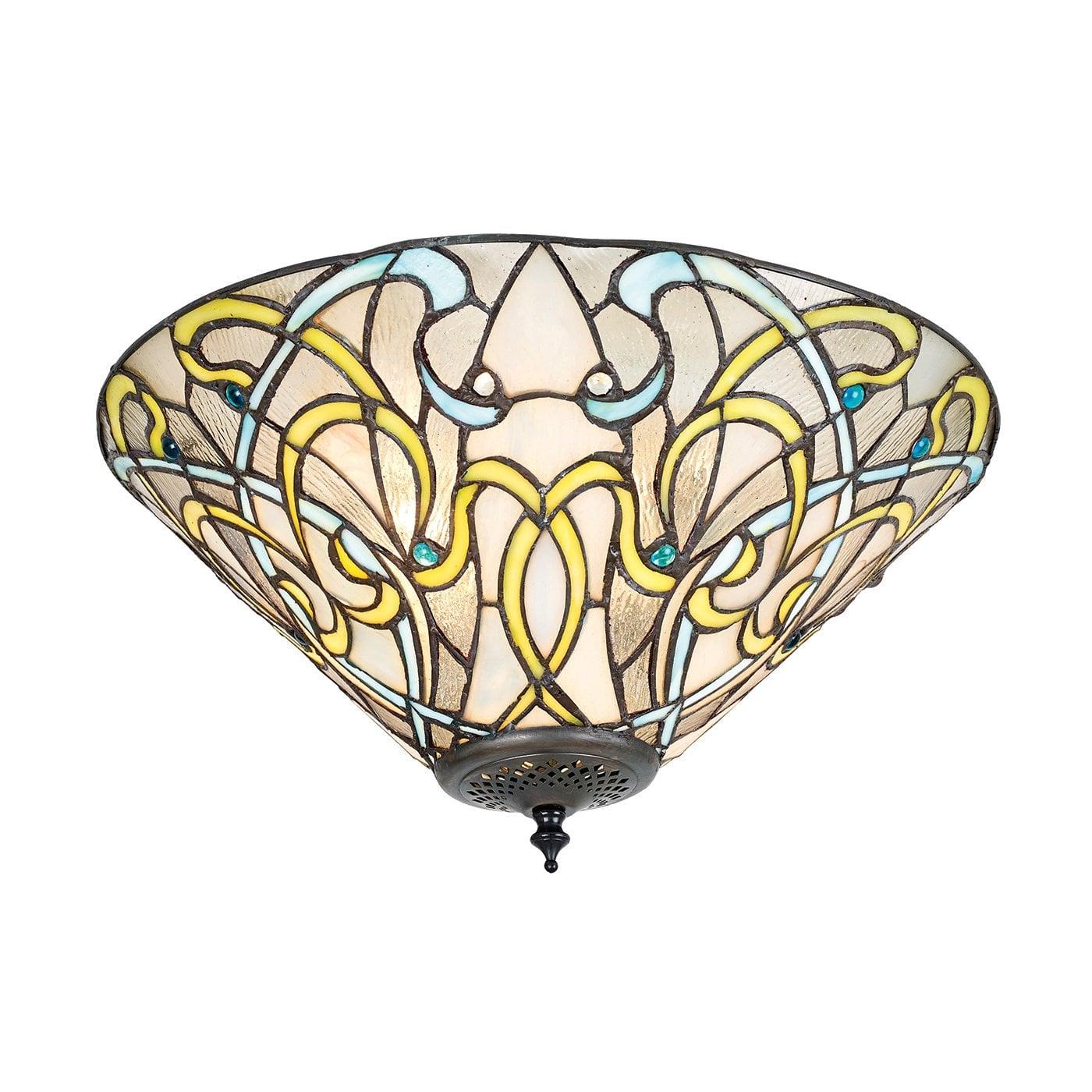 Interiors 1900 70700 Dauphine Medium 2lt flush, Tiffany