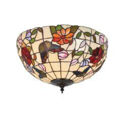 Interiors 1900 70713 Butterfly Medium 2lt flush, Tiffany