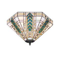 Interiors 1900 70776 Lloyd Medium 2lt flush, Tiffany