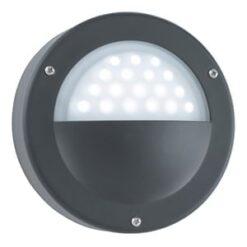 Searchlight 8744BK Outdoor 1lt Wall Light, Grey